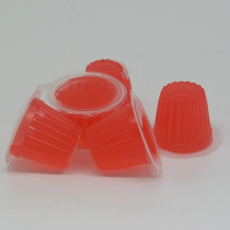 Petit pot de gelée protéiné saveur fruit rouge, idéal pour l'alimentation des colonies de fourmis.
