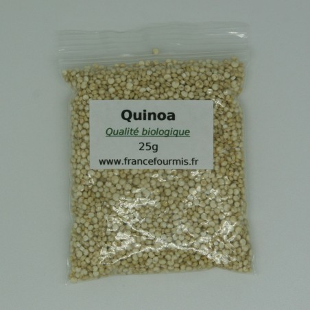 Sachet zip de graine de quinoa biologique, en format 25g