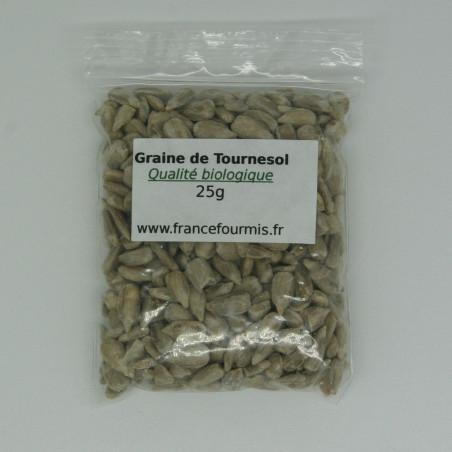 Le sachet de graine de tournesol décortiqué en format 25g