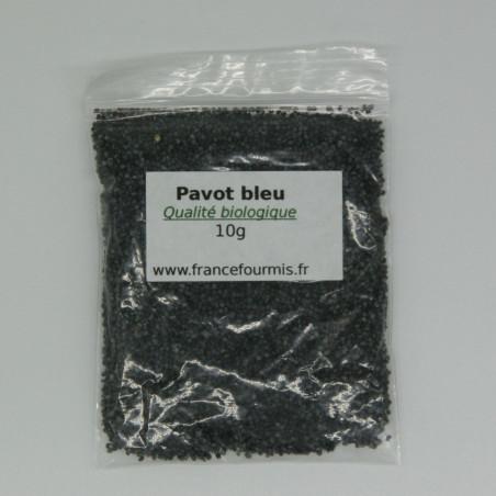 Sachet de graine de pavot bleu, en version 10g.