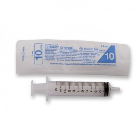 Seringue en plastique de 10ml en trois parties pour le nourrisage des colonies de fourmis.