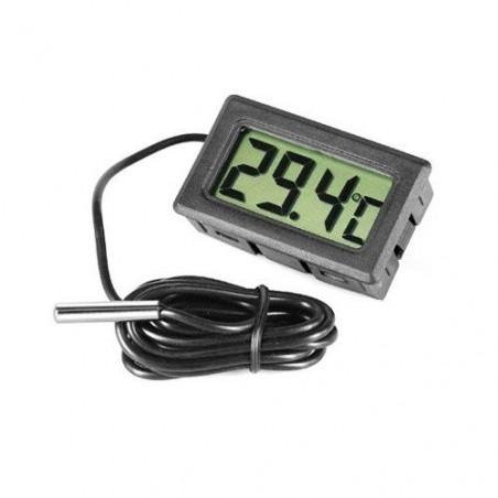 Petit thermomètre de précision avec sonde et pile LR44 fournie.